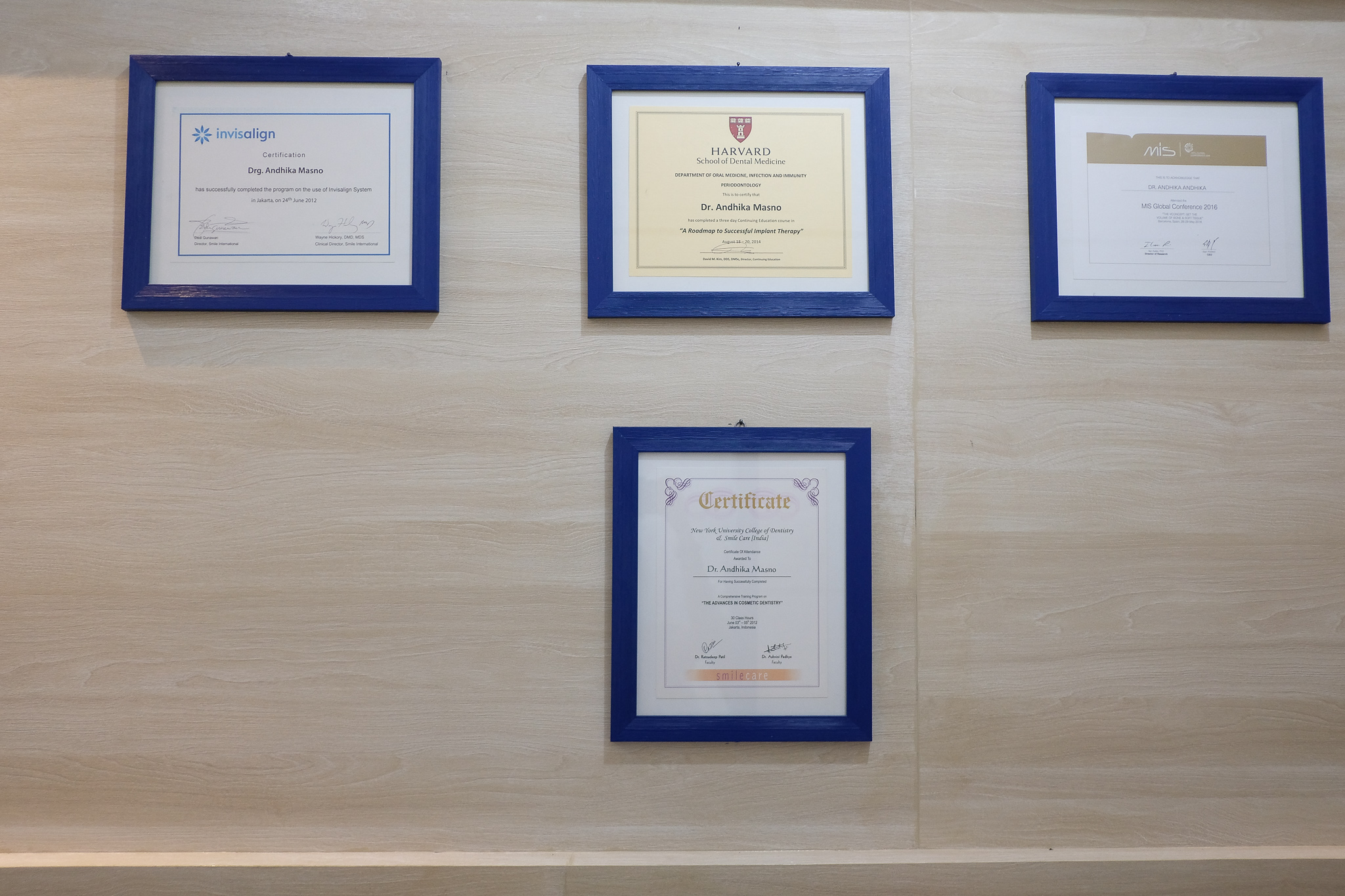 BIA Dental Center certifications