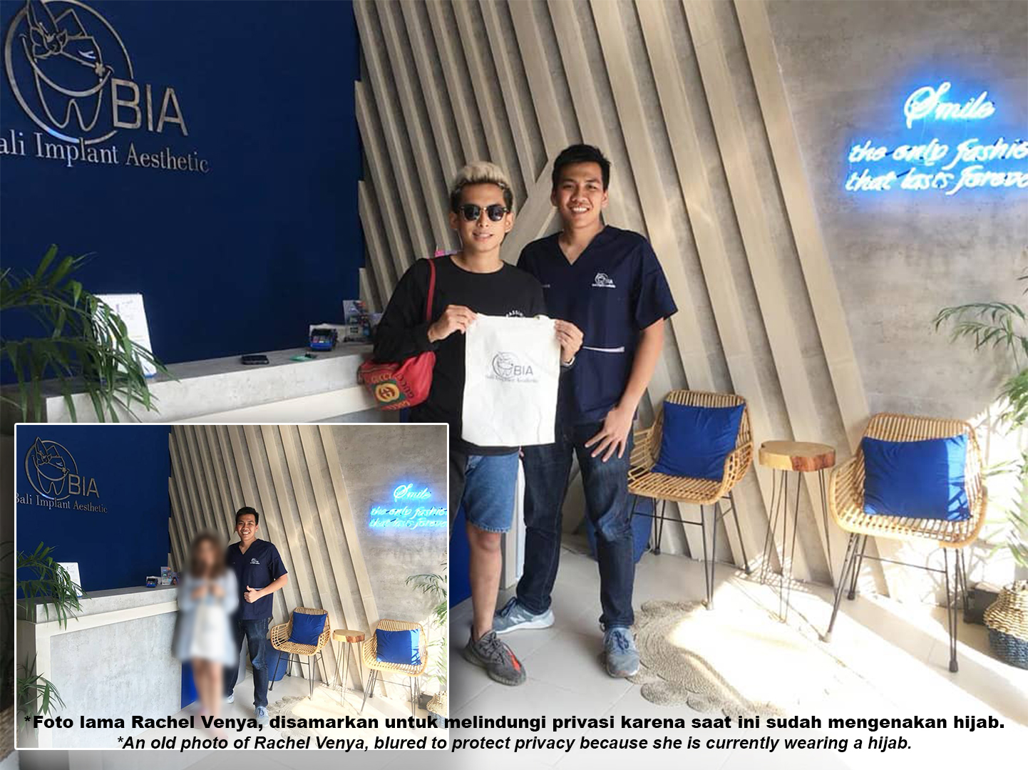 Rachel Venya is an Indonesian celebgram, entrepreneur who has a business in culinary, beauty, and fashion. review's at BIA Dental Center, best Bali Dental Center