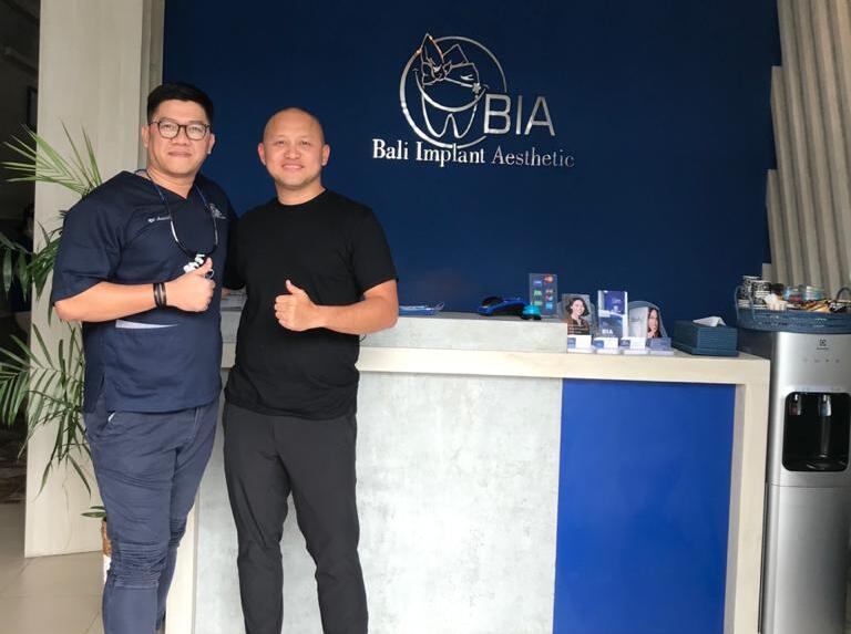 Ananda Mikola is an Indonesian race car driver review's at BIA Dental Center, best Bali Dental Center