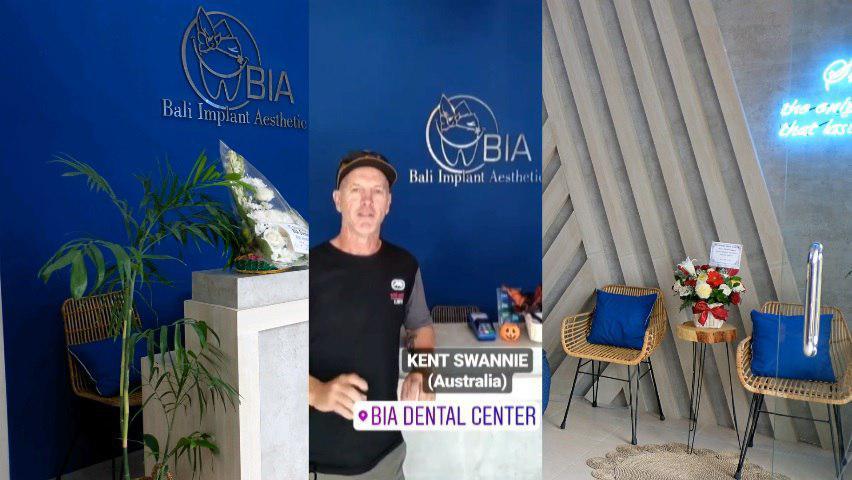 Kent Swannie, Australia review's at BIA Dental Center, best Bali Dental Center