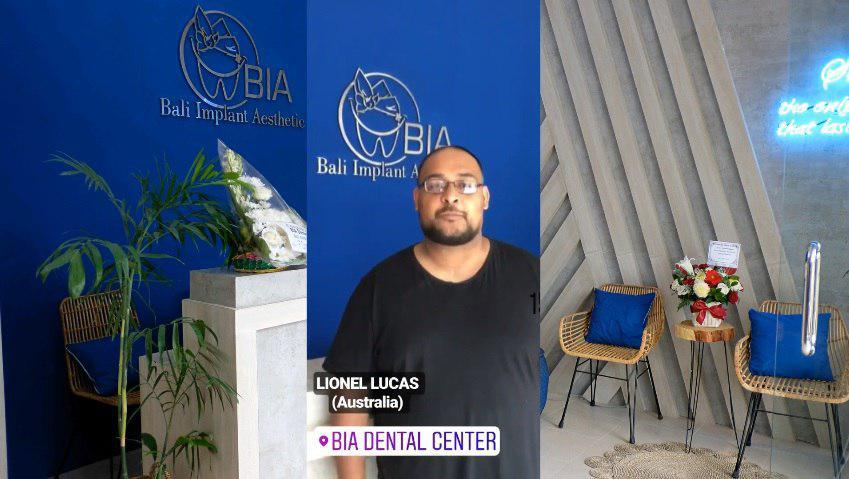 Lionel Lucas, Australia review's at BIA Dental Center, best Bali Dental Center