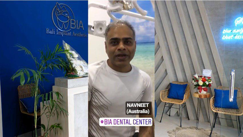 Navneet, Australia review's at BIA Dental Center, best Bali Dental Center