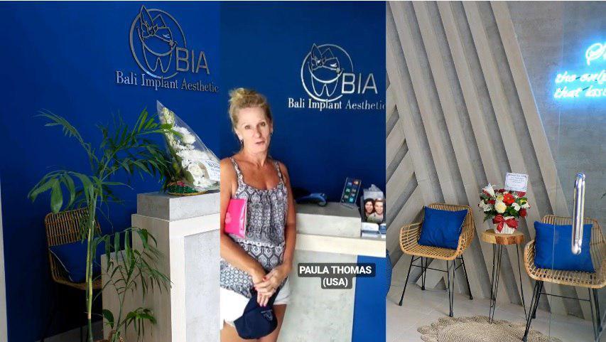 Paula Thomas, USA review's at BIA Dental Center, best Bali Dental Center