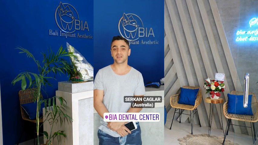 Serkan Caglar, Australia review's at BIA Dental Center, best Bali Dental Center