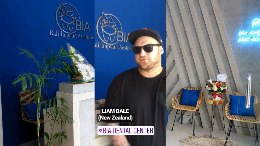 Liam Dale, New Zealand review's at BIA Dental Center, best Bali Dental Center